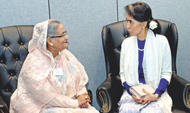 Prime Minister of Bangladesh and State Counsellor of Myanmar